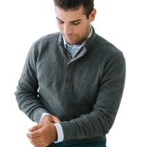Hope & Henry Mens' Sweater with Button Placket