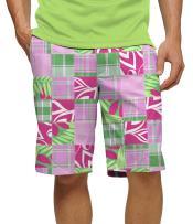 "Loudmouth Golf Cotton/Spandex Blend - John Daly Fun Kentucky Derby Preppy Mint Julep Men's Short - Knee Length, 11"" Inseam"
