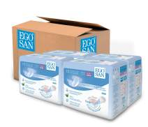 EGOSAN Maxi Incontinence Disposable Adult Diaper Brief Maximum Absorbency and Adjustable Tabs for Men and Women (Small Case, 120-Count)