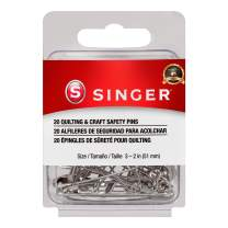 SINGER 00206 Quilting and Craft Safety Pins, Size 3, 20-Count