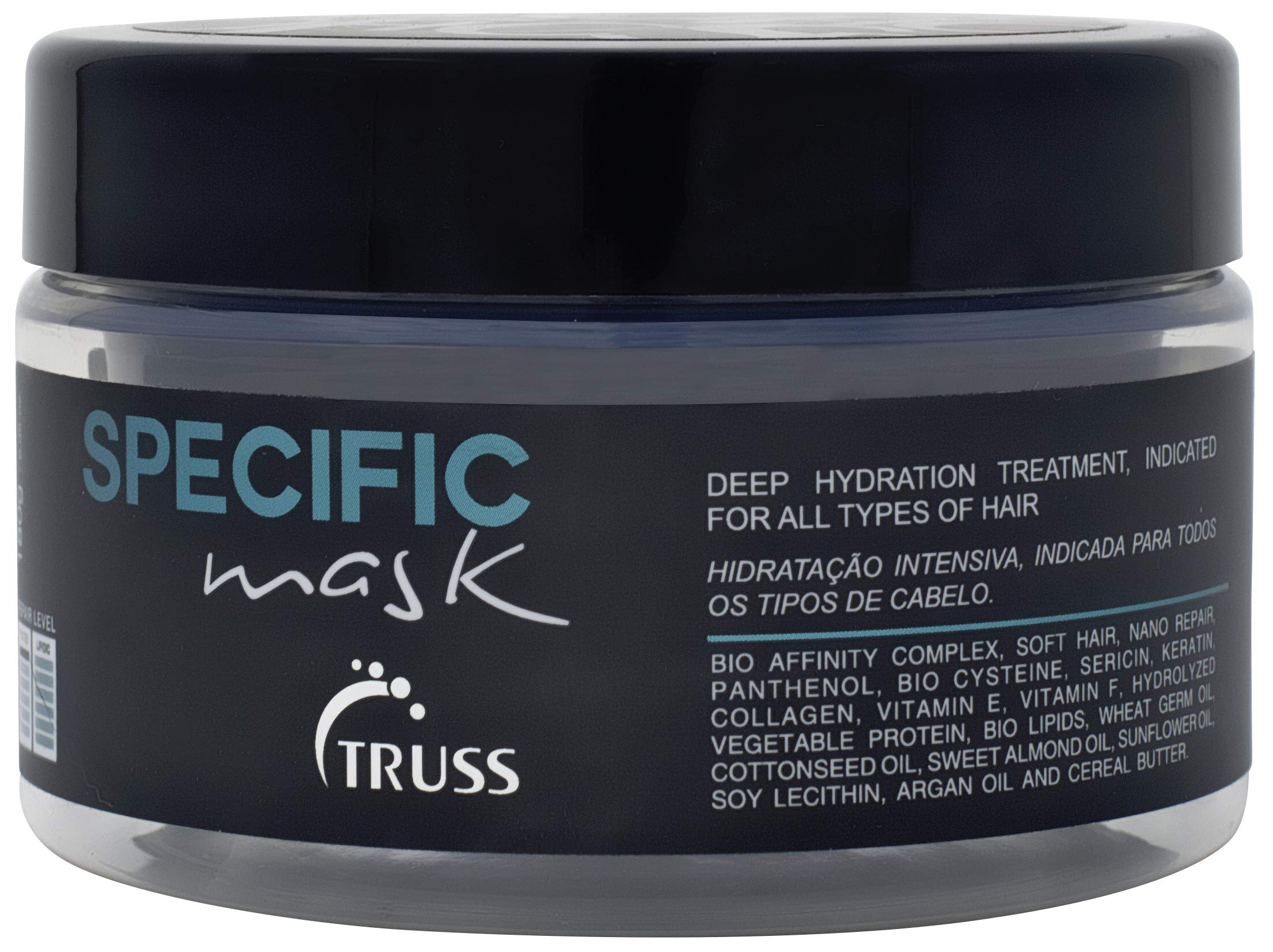 TRUSS Professional Specific Mask - Hydrating Hair Mask with Argan Oil - Deep Hydration Reconstructor - Repair & Seal Damaged Hair Cuticle, Extends Color, Prevents Split Ends, Prevents Color Fading