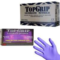 TopGrip Heavy-Duty Powder Free Nitrile Exam Gloves, 7.5 Mil Thick, Case of 1000 Gloves (Medium)