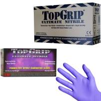 TopGrip Heavy-Duty Powder Free Nitrile Exam Gloves, 7.5 Mil Thick, Case of 1000 Gloves (Extra Large)