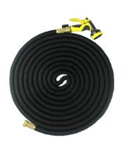 FOCUSAIRY Expandable Hose 75 Feet Expanding Heavy Duty Expandable Strongest Garden Water Hose with Shut Off Valve Solid Brass Connector and 9-Pattern Spray Nozzle