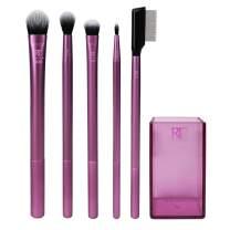 Real Techniques Enhanced Eye Set, Eyeshadow & Eyeliner Makeup Brush Kit for Every Look