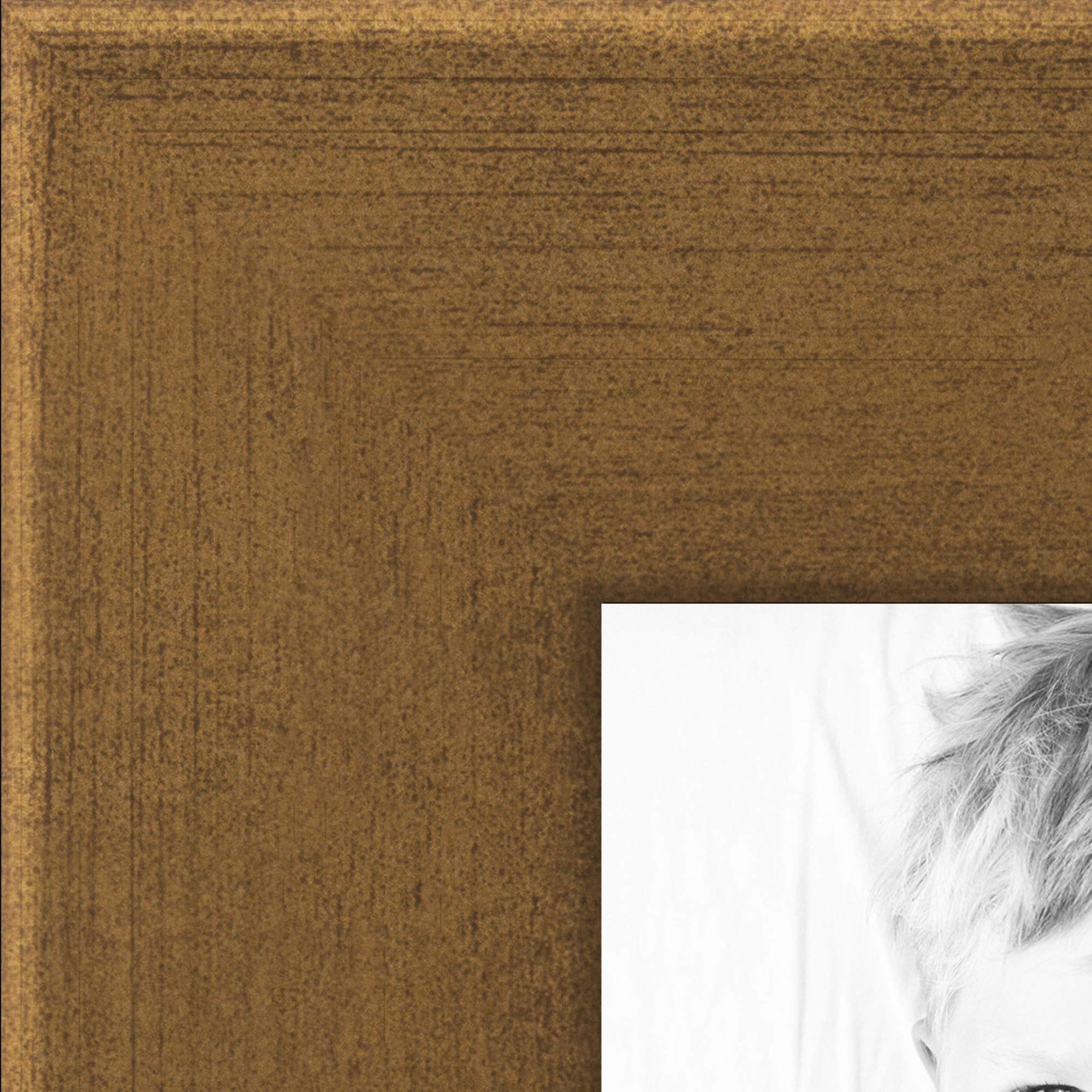 ArtToFrames 4x6 inch Muted Gold Glow Picture Frame, WOMBW26-1619-4x6