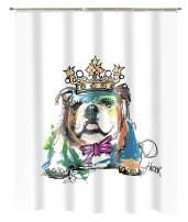 Popular Bath Dog King Shower Curtain, 70x72