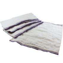 OsoCozy Better Fit Unbleached Prefolds - Baby Cloth Diaper Prefolds Made of 100% Indian Cotton - Diaper Service Quality (DSQ) {Infant 4x8x4 Fits 6-16 lb.} - Dozen