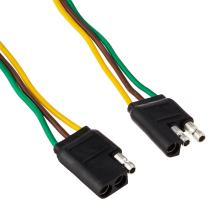"""Sierra International WH10320 16 Gauge 3-Wire Flat Connector with 2-Plugs & E303120 Ready Wired, 12"""""""