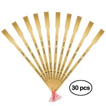 """BambooMN 30 Pieces 16.5"""" BambooMN Logo Thin Travel Back Scratcher, Provide Instant Relief from Itching Spots, Good Practical and Novel Gifts for Friends and Family"""
