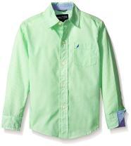Nautica Boys' Long Sleeve Gingham Woven Shirt
