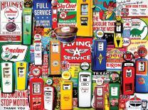 White Mountain Puzzles Gas Pumps - 550 Piece Jigsaw Puzzle