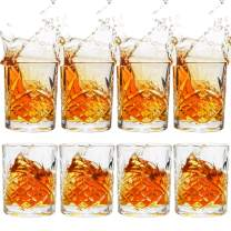 UMEIED Whiskey Glasses Set of 8, 11 Oz Scotch Glasses, Double Old Fashioned