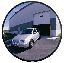 """See All PLXO36SSB Circular Acrylic Outdoor Convex Security Mirror with Stainless Steel Back, 36"""" Diameter (Pack of 1)"""