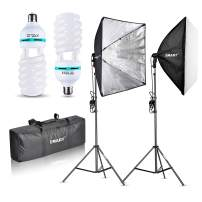 """Emart Softbox Lighting Kit, Pro 24"""" x 24"""" 1000W Soft Boxes Photography Continuous Photo Studio Light System with E27 Socket for Filming Studio Lighting, Portrait Photography Shooting, YouTube"""