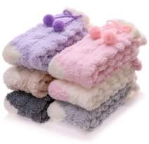 Grils Womens Fuzzy Socks Soft Warm Fluffy Cute Cozy Winter Slipper Christmas Socks