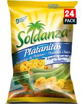 Soldanza Plantain Chips, Lightly Salted, 2.5 oz (Pack of 24)