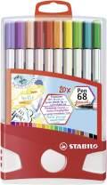 STABILO Pen 68 Brush Marker ColorParade Set, 20-Colors