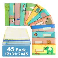 """Trisiki 12 Plastic Cash Envelopes for Budget System, Reusable Horizontal Budget Envelopes with Budget Trackers, """"Where Did My Money Go"""" Worksheets, Label Stickers,Envelopes+ Budget Trackers"""