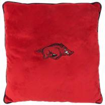 Pets First Collegiate Pet Accessories, Dog Pillow, Arkansas Razorbacks, 16 x 16 x 3 inches