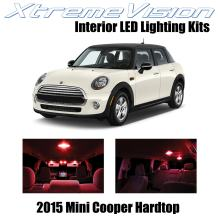 Xtremevision Interior LED for Mini Cooper 2015+ Hardtop 4 Doors (7 Pieces) Red Interior LED Kit + Installation Tool