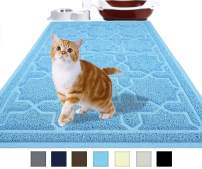 Yimobra Durable Cat Litter Mat, XL Jumbo 35.4 x 23.6 Inches, Easy Clean Cat Mats, Non-Slip, Water Resistant,Traps for Litter Boxes, Pet Litter Floor Mats, Scatter Control, Soft, No Phthalate