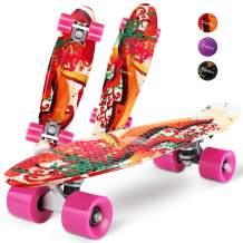 Gonex Mini Cruiser Skateboard, Complete 22 Inches Plastic Skateboard for Boys Girls Beginners Kids Teens Youth & Adults