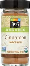 365 Everyday Value, Organic Ground Cinnamon, 1.9 oz
