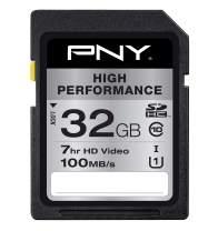 PNY 32GB High Performance Class 10 U1 Flash Memory Card 20-Pack (P-SDHC32GU1GW-GEX20)