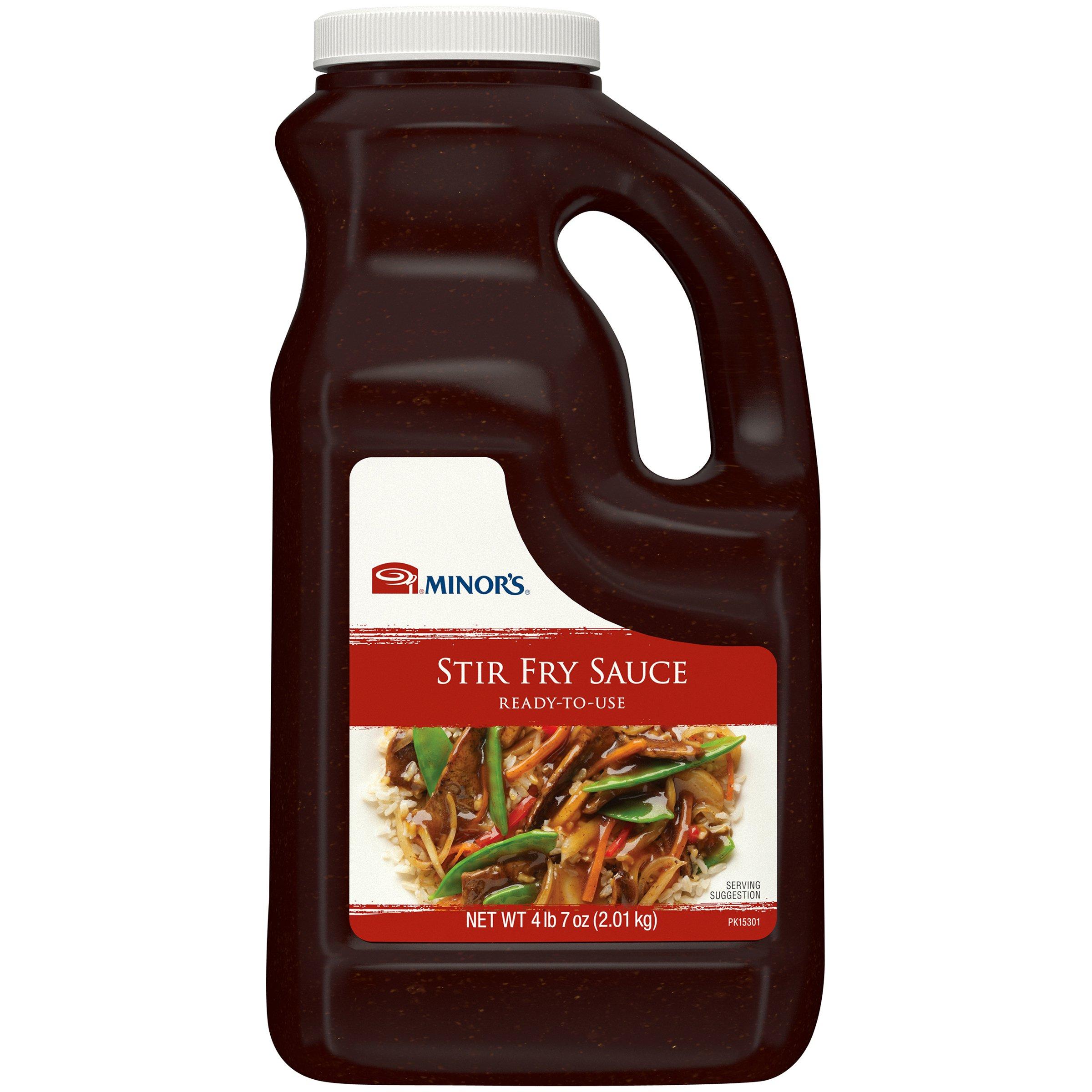 Minor's Stir Fry Sauce, Shelf Stable, Marinade, 4 lb 7 oz Bulk Bottle