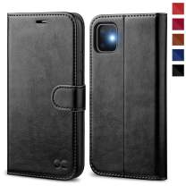 OCASE iPhone 11 Case, iPhone 11 Wallet Case with Card Holder, Leather Flip Case with Kickstand and Magnetic Closure, TPU Shockproof Interior Protective Cover for iPhone 11 6.1 Inch (Black)