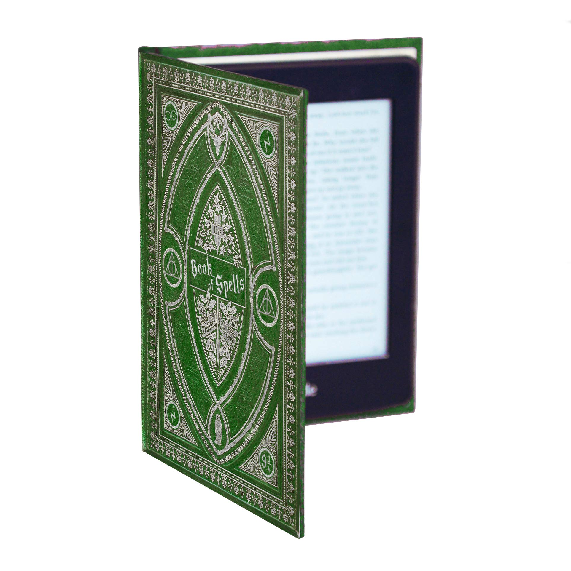 Kindle Paperwhite Case with Harry Potter Themed Foldback Book Cover (Slytherin Green)
