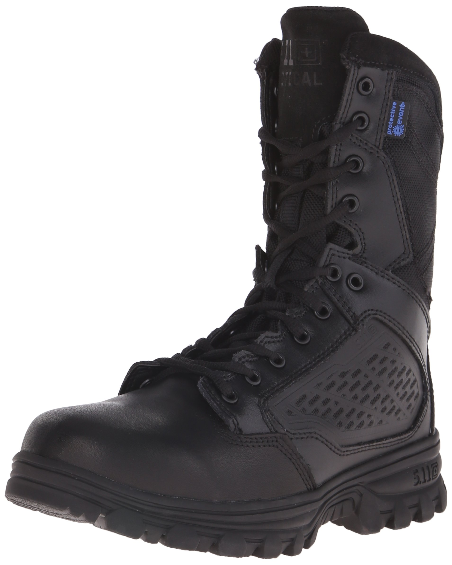 5.11 Tactical EVO 8-Inch Waterproof Boots, Side Zip Access, Full-Length EVA Midsole, Style 12312