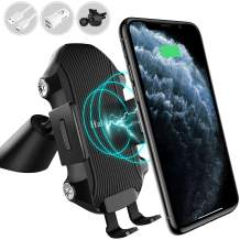 Halcurt Wireless Car Charger, 10W Qi Fast Charging Auto-Clamping Car Charger Phone Mount, Windshield Dash Air Vent Phone Holder Compatible with iPhone 12/11 Pro/11 Pro Max/Xs MAX/XS/XR/X/8/8+