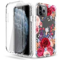 DONWELL Compatible iPhone 11 Pro Case Hybrid Full Body Case with Built-in Screen Protector Three Layer Shockproof Case Cover Compatible with iPhone 11 Pro/iPhone XI Pro 5.8 inch 2019 (Clear-2)