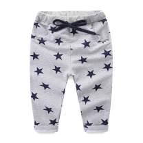 Mud Kingdom Cotton Boys Pants Elastic Waist Star Pattern