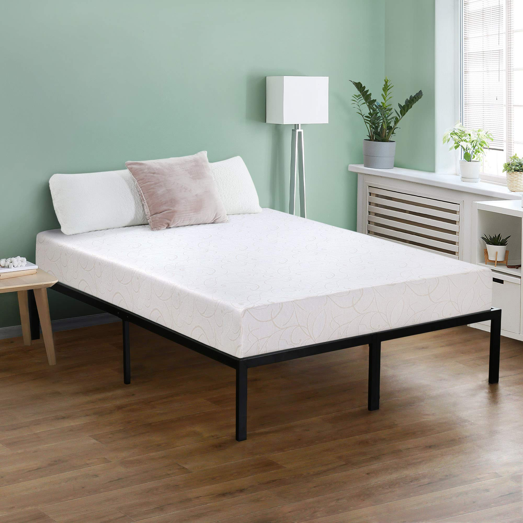 Olee Sleep 7 Inch I-Gel Deluxe Comfort Memory Foam Mattress,Queen,Beige,White, CertiPUR-US, Multi-layered foam, Supporting Body Weight,Comfort and Relieve pressure