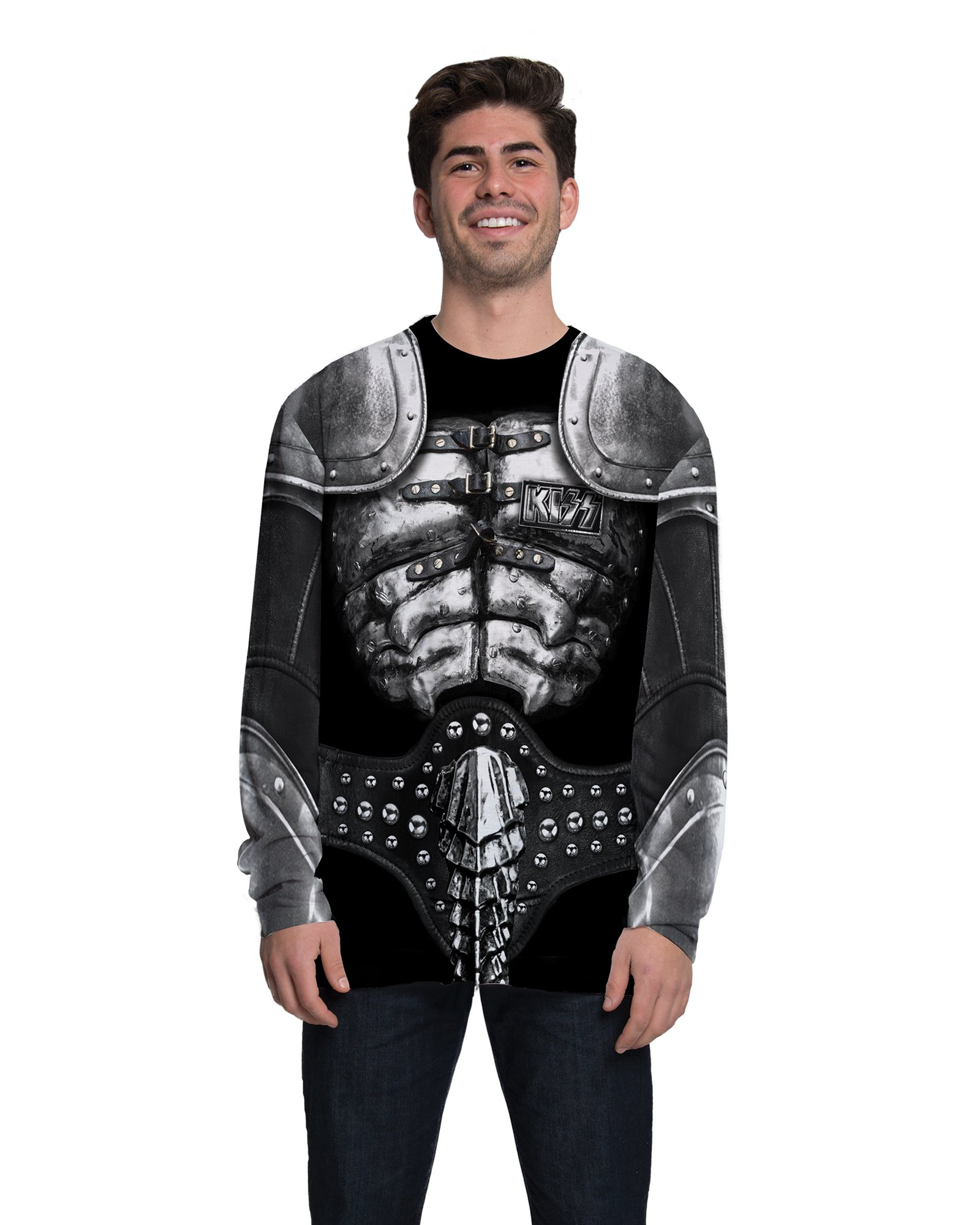 Faux Real Men's Halloween 3D Photo-Realistic Long Sleeve T-Shirt