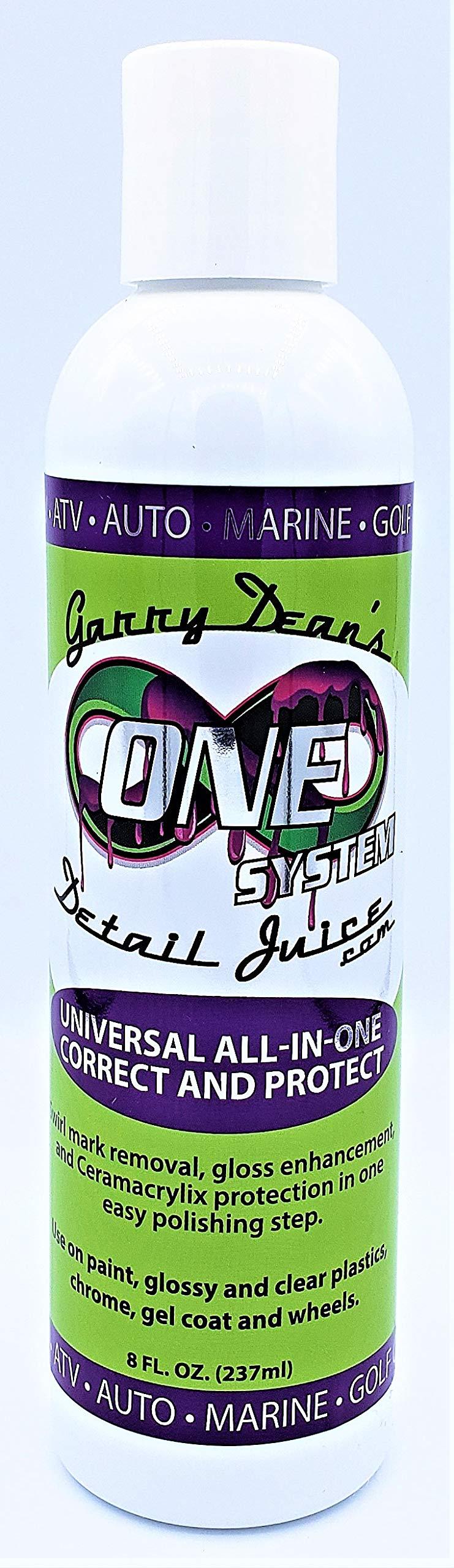 Detail Juice Garry Dean's ONE System Universal All in One Polish Automotive Detailing Supplies Paint, Clear Plastics, Chrome, Gel Coat, Wheels (8 fl oz)