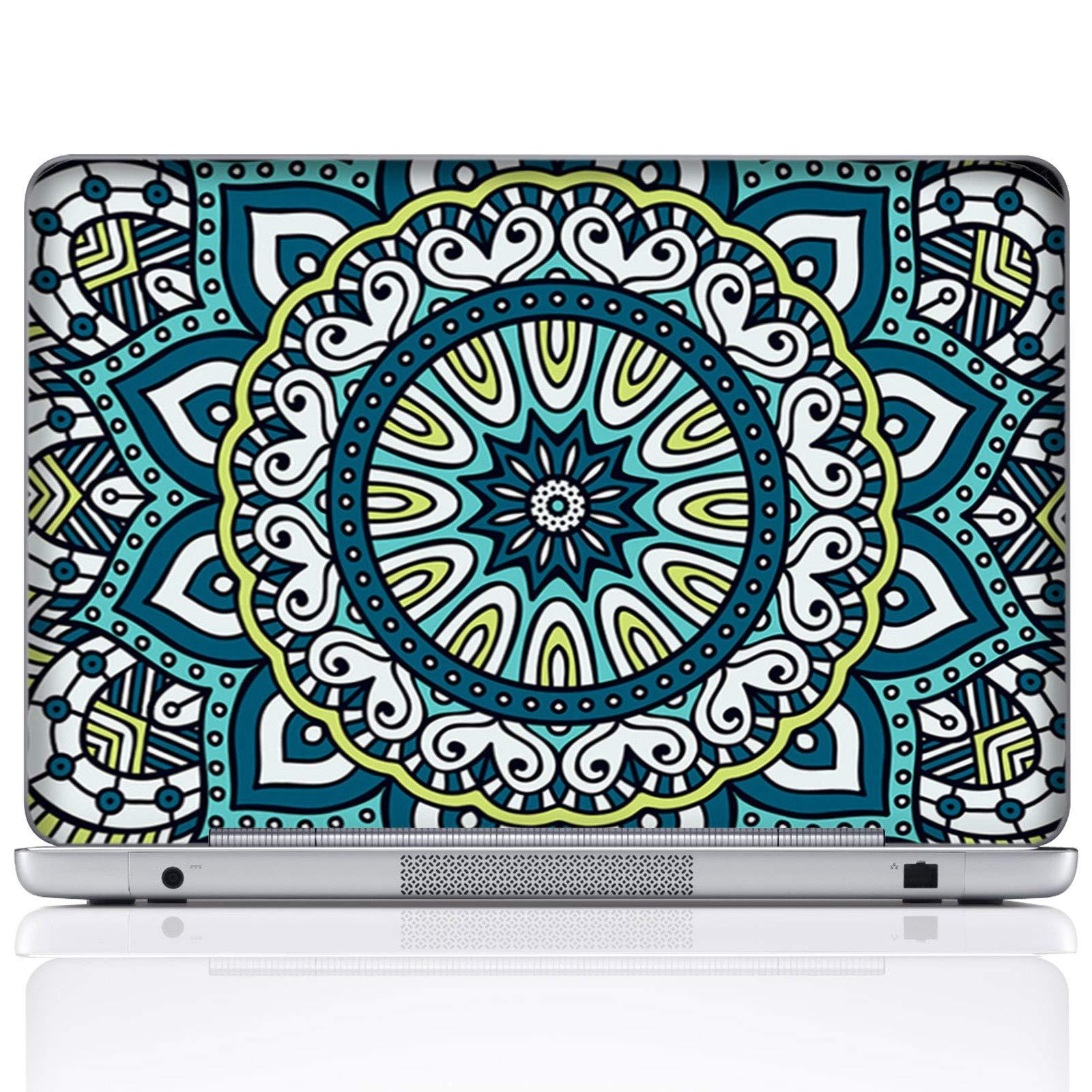 Meffort Inc 15 15.6 Inch Laptop Notebook Skin Sticker Cover Art Decal (Included 2 Wrist pad) - Mandala Design