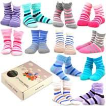TeeHee Kids Girls Cotton Fashion Crew Socks 12 Pair Pack