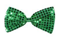 Green Glitz 'N Gleam Bow Tie Party Accessory (1 count) (1/Pkg)