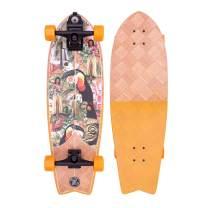 Z-Flex Banana Train Surfskate Fish Longboard, Adults Unisex, Orange (Orange), 31 in