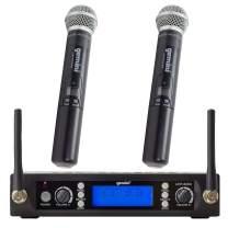 Gemini, 1 Wireless Microphone System, Professional Handheld Long Range (240 Ft) Mic Set For DJ, Church, Karaoke, Gym, XLR Connector, 2 (UHF-6200M-R2)