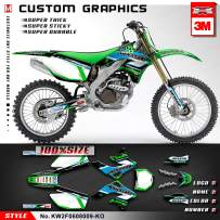 Kungfu Graphics Custom Decal Kit for 2007 2008 Kawasaki KXF450 KX450F KX 450F, KW2F0608009-KO