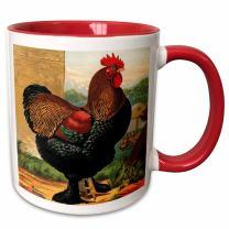3dRose 221964_10 Mug, 15oz, Red/White