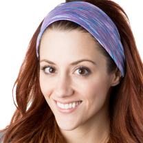 Hipsy Xflex Space Dye Adjustable & Stretchy Wide Sports Headbands for Women
