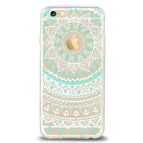 Ailun Phone Case Compatible with iPhone 6 Plus iPhone 6s Plus Solid Acrylic Back Reinforced Soft TPU Frame Ultra Slim Shock Absorption Bumper Anti Scratch Fingerprint Oil Stain Mandala MintGreen