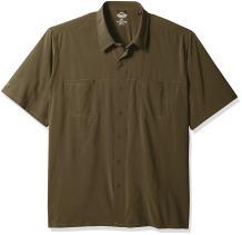 Dickies Men's Cooling Woven Shirt with 4-Way Flex Big