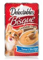 Delectables Bisque Lickable Wet Cat Treats - Tuna & Shrimp - 12 Pack